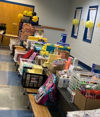 Vibrant Church donated school supplies and backpacks!