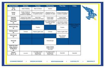 Cafeteria Menu June 14-17
