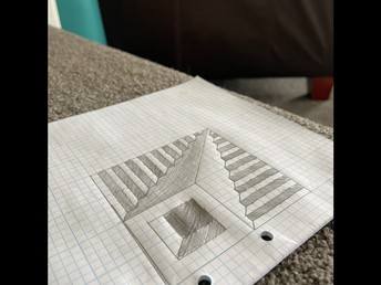 Wow! Fantastic 3D drawing from Kaitlin!