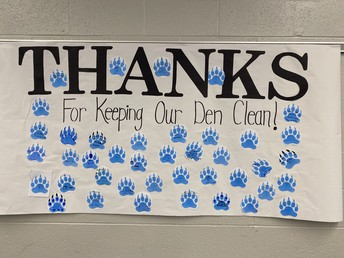 Thank you to our great custodian crew!