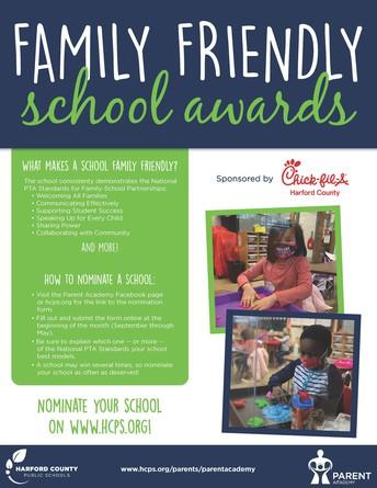 Family Friendly School Award Program