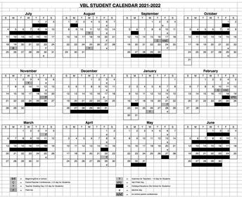 VBL Calendar