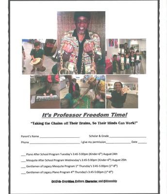 Professor Freedom Time!