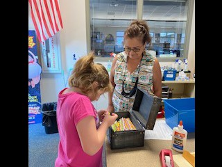 Mrs. Sponholz gives out Birthday Pencils!