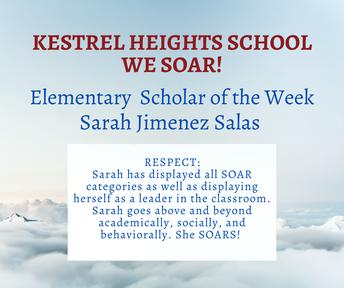 10/06 Elementary School Scholar of the Week