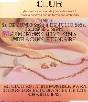 Summer Jewelry Club!