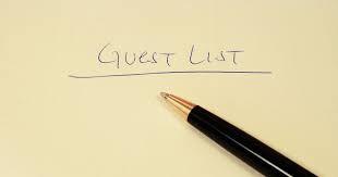 Graduate Guest List