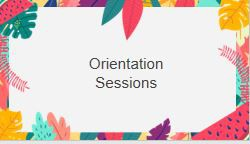 School and class specific orientations!