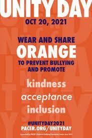 Unity Day – Wednesday, October 20, 2021