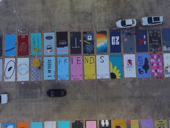 Senior parking...get creative! Click picture to enlarge