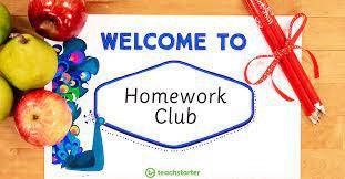After school Homework Club 2:45-3:45