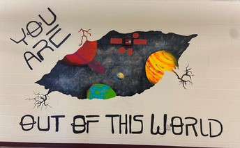 Mural completed this summer by students and staff