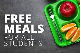 Free breakfast & lunch for all students.
