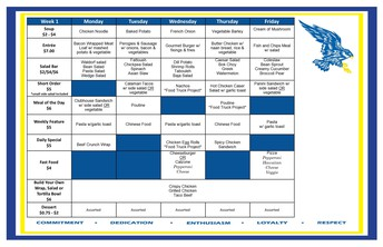 Cafeteria Menu May 31-June 4
