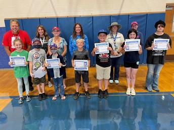 Grades 3 -5 Panther Pride Award Recipients