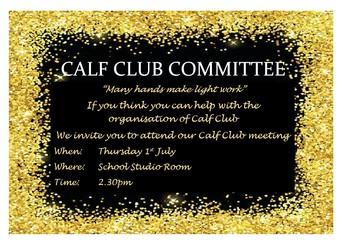 CALF CLUB COMMITTEE MEETING