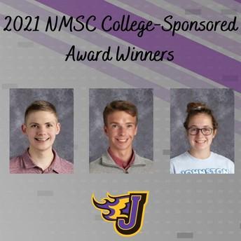 Three Earn NMSC College-Sponsored Awards