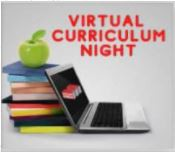 Virtual Curriculum Night (via Zoom) September 16, 2021