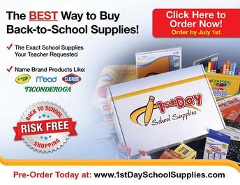 1st Day School Supplies Fundraiser to benefit the Anita Brady Memorial Fund!