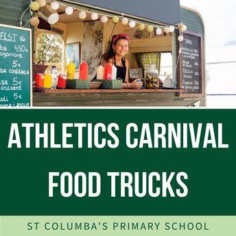Sports Carnival Food Truck Menu