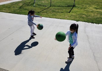 Students Excited to Use Playground Equipment