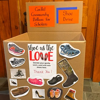 """""""Shoe Us Your Love"""" Shoe Drive To Support Dollars For Scholars"""