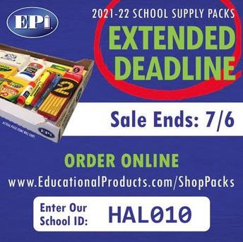 PRE-ORDER YOUR SCHOOL SUPPLIES - NOW!!