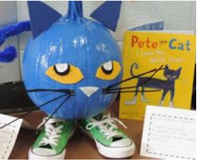 Let's help Buddy celebrate reading by decorating a pumpkin to look like your favorite storybook character