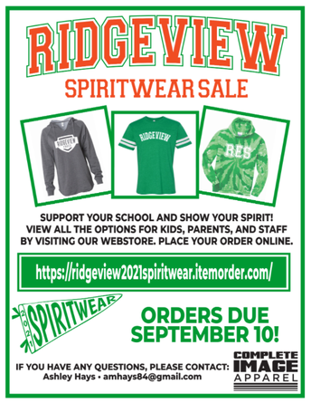 Ridgeview Spirit Wear Now Available!