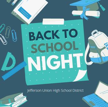 Back to School Night Schedule