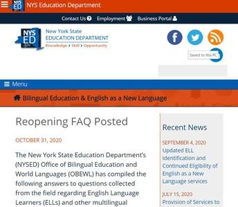 NYSED OBEWL Reopening FAQ