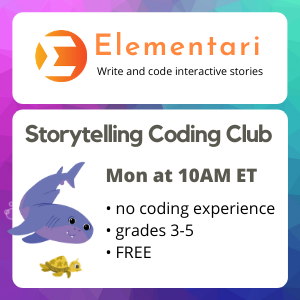 FREE For Grades 3-5 Storytelling Coders Club