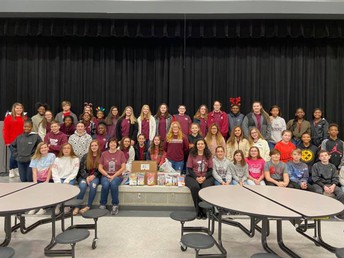 Student Council and Honors Chorus paired together to provide sweet packages to Shadow Oaks residents.