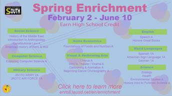 LAUSD Spring Enrichment Classes