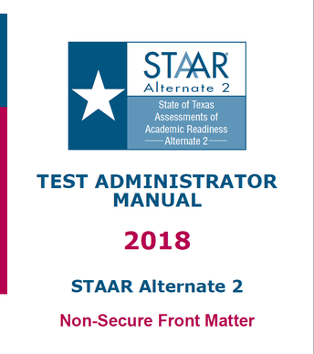 STAAR Alt 2 TA Manual