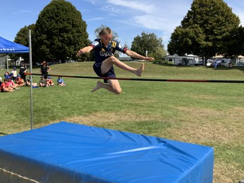 Ajay competing at our high jump event during athletics on Monday. Ajay jumped 120cm. Good luck to all students competing at South Otago Athletics on Monday 8th March.