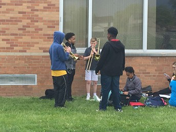Outdoor band practice