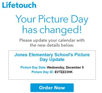 Picture Day is December 9th!