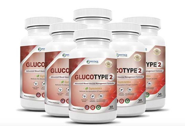 bottles of gluco type 2 supplement