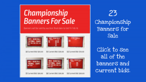 Championship Banners for Sale by Auction