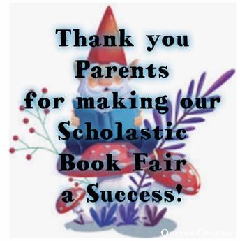 Success, Success during our Scholastic Book Fair!