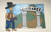 The WRHS Mascot Celebrates Guidance