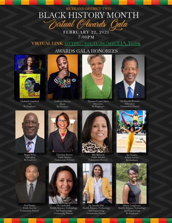 Tune in today at 6 p.m. for the 2021 Black History Month Program.