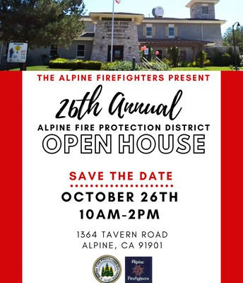 Alpine Firefighters 26th Annual Open House!