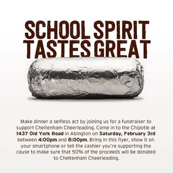 Cheerleading Fundraiser at Chipotle