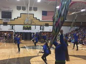 Color Guard at Pep Assembly