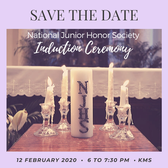 Save the Date | Induction Ceremony, February 12th