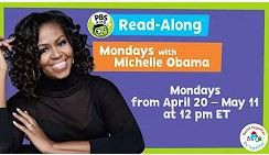 Read with Michelle Obama every Monday @12 p.m.