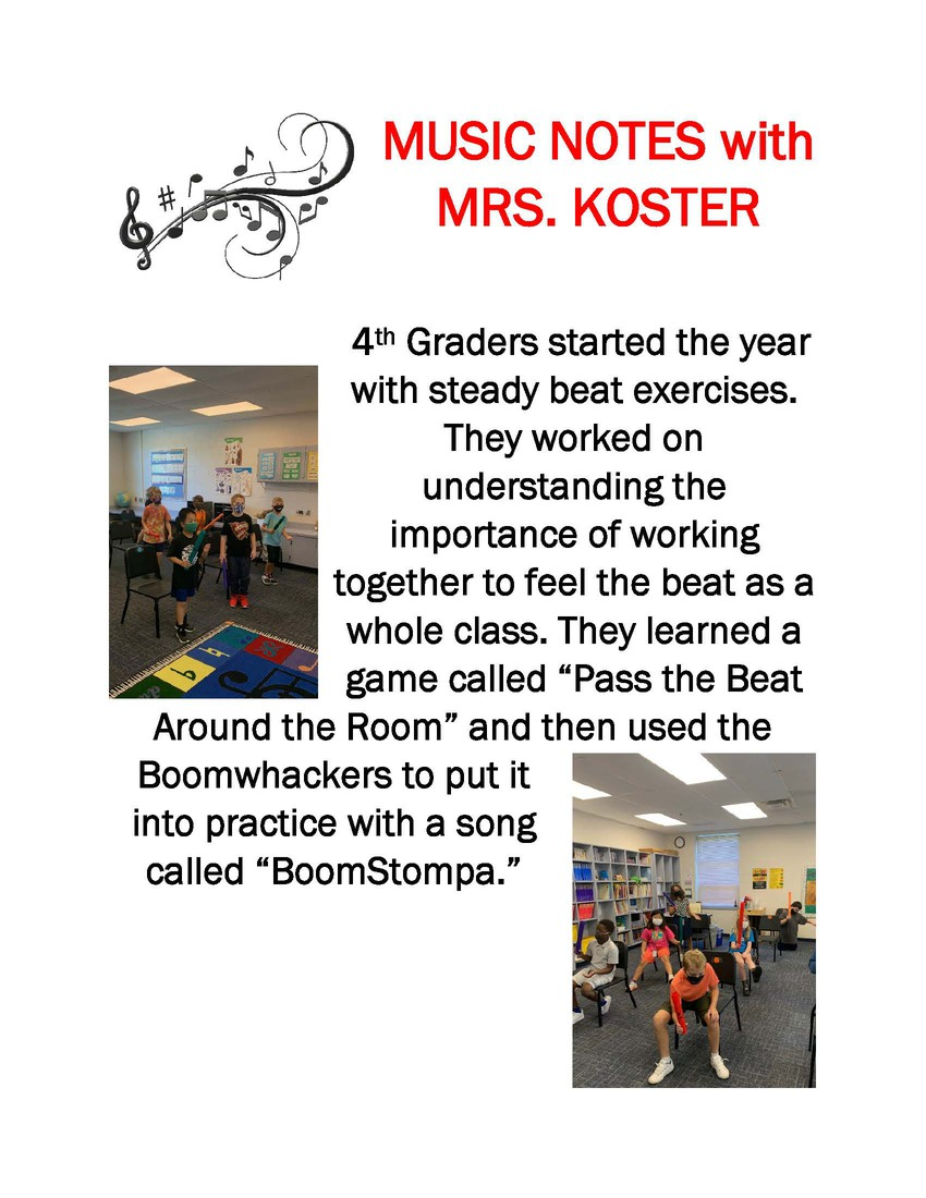 Music Notes with Mrs. Koster