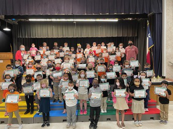 3rd Nine Weeks Kinder Perfect Attendance Award Winners